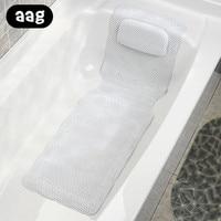 AAG PU Bath Pillow Bathtub Spa Pillow Headrest Bathroom Supplies Neck Bathtub Cushion Soft Headrest Bathroom Products Pillow