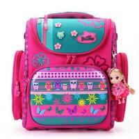 Delune 2015 New European Children School Bag Girls Boys Backpack Cartoon Mochila Infantil Large Capacity Orthopedic