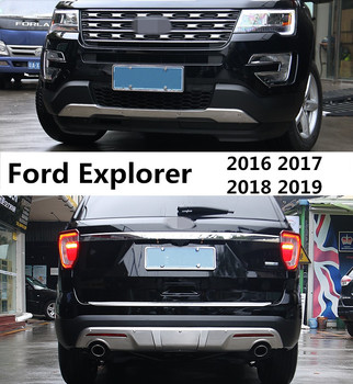 For Ford Explorer 2016-2019 ochraniacz zderzaka osłona przeciwuderzeniowa wysokiej jakości stal nierdzewna przednie i tylne akcesoria samochodowe