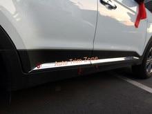 4 UNIDS ABS Exterior Inferior Puerta Lateral Molduras Para Hyundai Creta/ix25 2014-2017