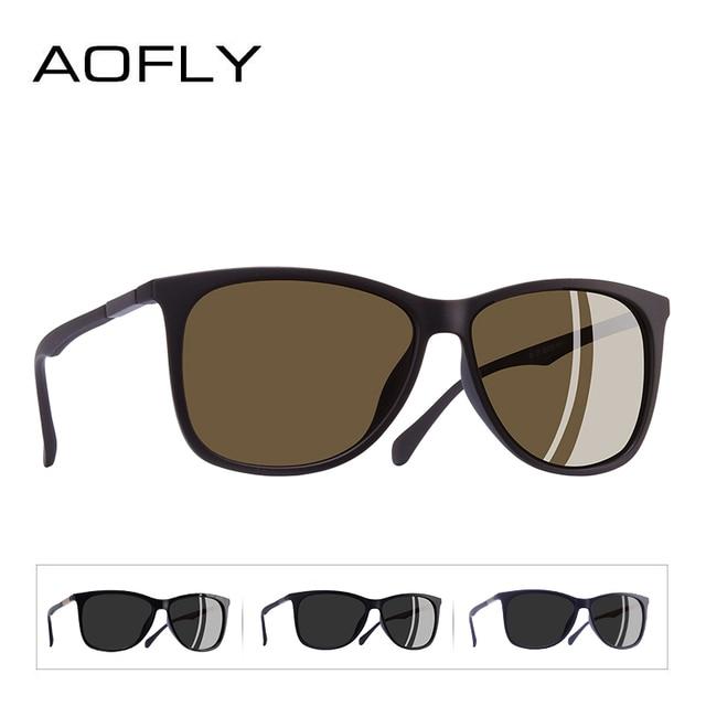 AOFLY BRAND DESIGN Classic Polarized Sunglasses Men Driving TR90 Ultralight Sunglasses Men's Goggles UV400 Gafas AF8085 3