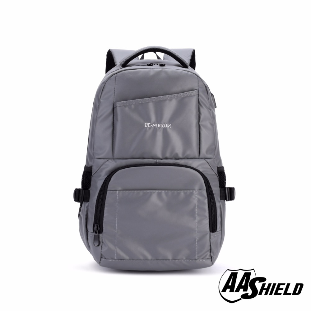 AA Shield Ballistic Travel Backpack Body Armor Safe School Bag NIJ Level IIIA Bulletproof Plate Insert Gray