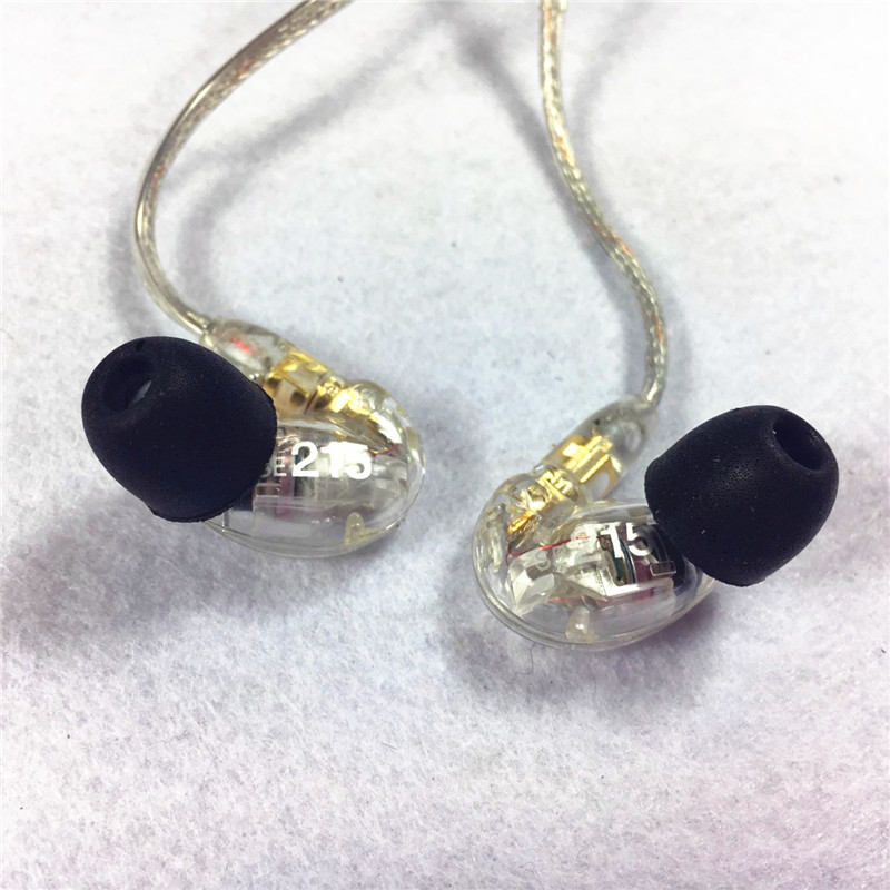 Brand SE215 Hi-fi stereo Headset Noise Canceling 3.5MM In ear Earphones Separate Cable headset with Box also sell se535