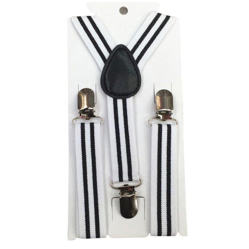 New Boys Girls Stripes Y-Back Suspenders Child Elastic Adjustable Clip-On Braces