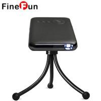 FineFun Przenośny Mini Projektor DLP Projektor Projektory LED Smart WIFI Bezprzewodowe Wyjście HDMI Android Smartphone z 1G/16 GB