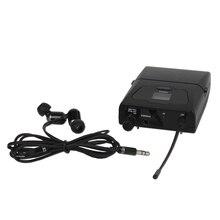 Profissional Sem Fio In Ear Monitor System In ear Fones De Ouvido Receptor de Monitoramento para Performance de Palco só 1 + Fones De Ouvido