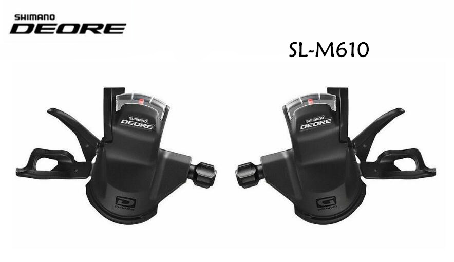 Shimano Deore M610 M615 SL-M610 Shift 2x10 / 3x10 speed Lever Set Shifter Trail MTB R+L 2/3x10 speed Rapidfire free shipping shimano deore fc m610 fc m612 m615 aluminium 3x10 2x10 speed crankset with bb51