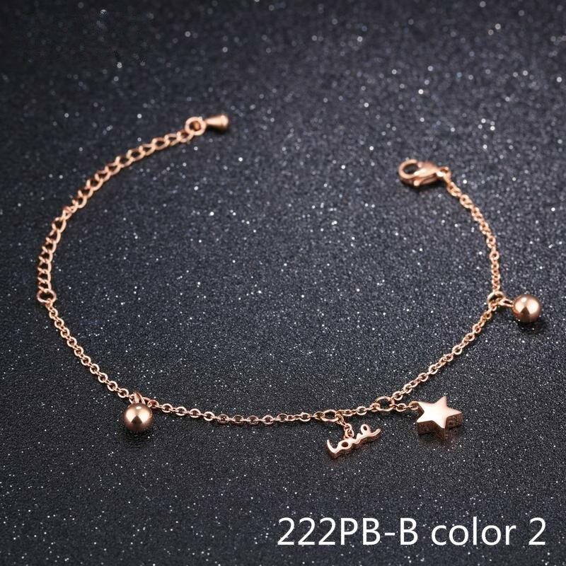 День хан Shishang Роза браслет пятиконечная звезда покрытие лаконичный браслет студентка изделия браслеты для женщин 222PB GC