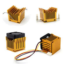 купить 2pcs IC Two-electrode 40x10mm Cooling Fan Aluminum DIY Northbridge Heat Sink Heatsinks дешево