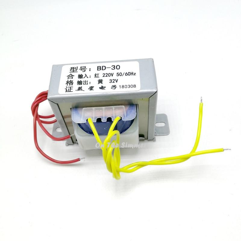 Transformer BD-30 220V to 32V Dental Grinder Transformer AC 0.5A/1A SAHSHIN  Output voltage:AC32V Input voltage:AC220V ~ 50Hz