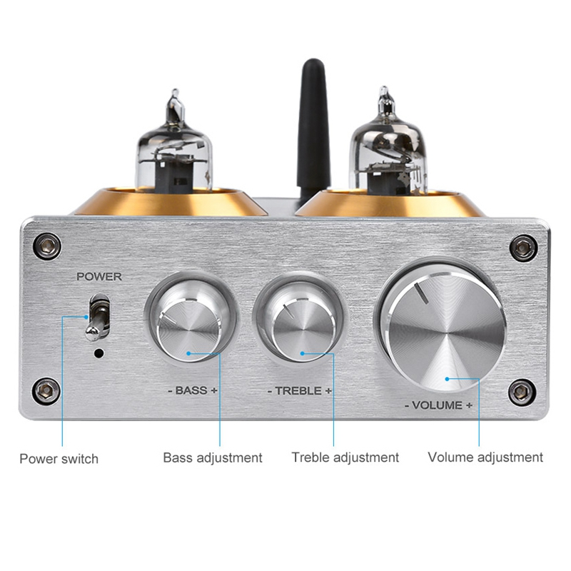 Hot TTKK Bluetooth 4 2 Buffer Hifi 6J1 Tube Preamp Amplifier Stereo Preamplifier With Treble Bass Tone Control For Home Theate in Operational Amplifier Chips from Consumer Electronics