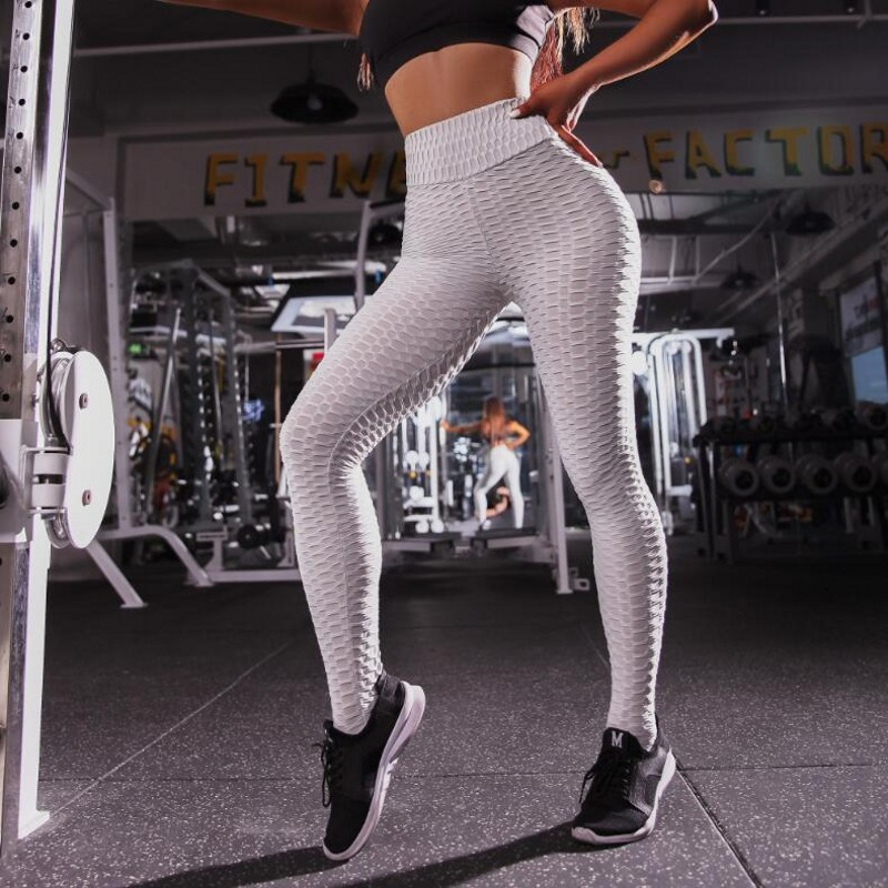 Black White Leggings Women Polyester Ankle-Length Standard Fold Pants Elasticity Keep Slim Push Up Fitness Female Legging New