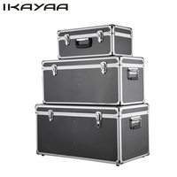 iKayaa 3PCS/Set MultiPurpose Aluminum Tool Boxes Case Lockable Storage Boxes Container Large/Middle/Small Size With Handles