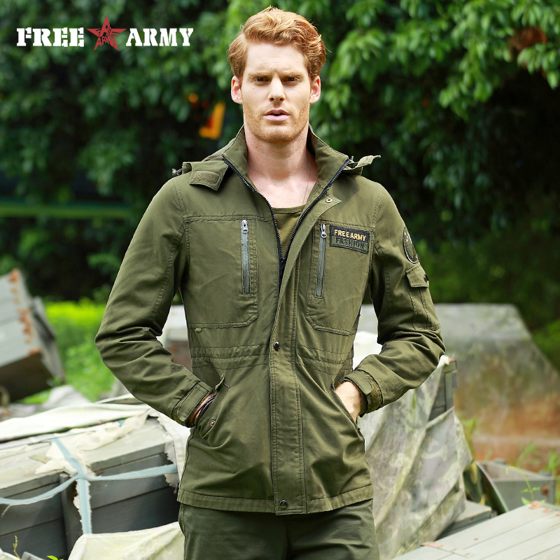 Army Clothes Casual Tactical Windbreaker Men Winter Autumn Waterproof Flight Pilot Coat Hoodie Military Field Jacket MS-6662A