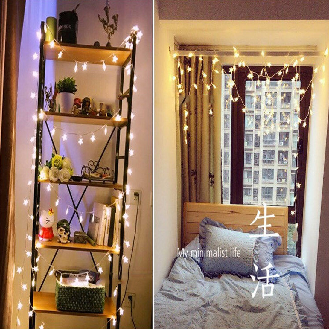 1pcs Christmas Lights Outdoor 100LED String Lights Festive lantern for Home Wedding Party Decoration EU Plug With Tail Power