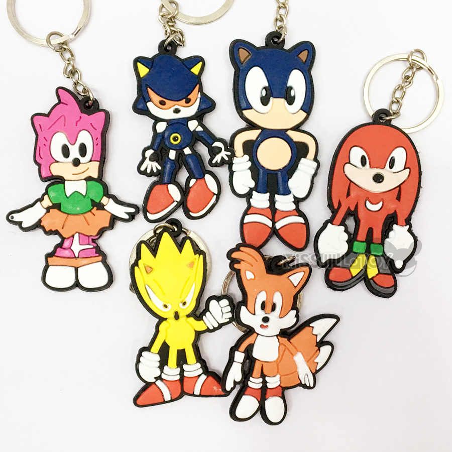New Fashion Pendant Sonic The Hedgehog Tails Amy Knuckles The Echidna Figure Doll Keychian Car Keyring Bag Pendant Creative Gift Creative Gift Bag Pendantkeyring Bag Aliexpress