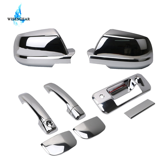 WISENGEAR Car Chrome Rearview Mirror + Exterior Door Handle + Tailgate Tail Gate Cover For 2007  sc 1 st  AliExpress.com & WISENGEAR Car Chrome Rearview Mirror + Exterior Door Handle + ...