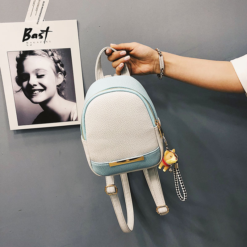 Miyahouse Female Pu Leather Casual Backpack Mini Shoulder Backpacks Hit Color Travel Rucksack For Women Small Backpack #3
