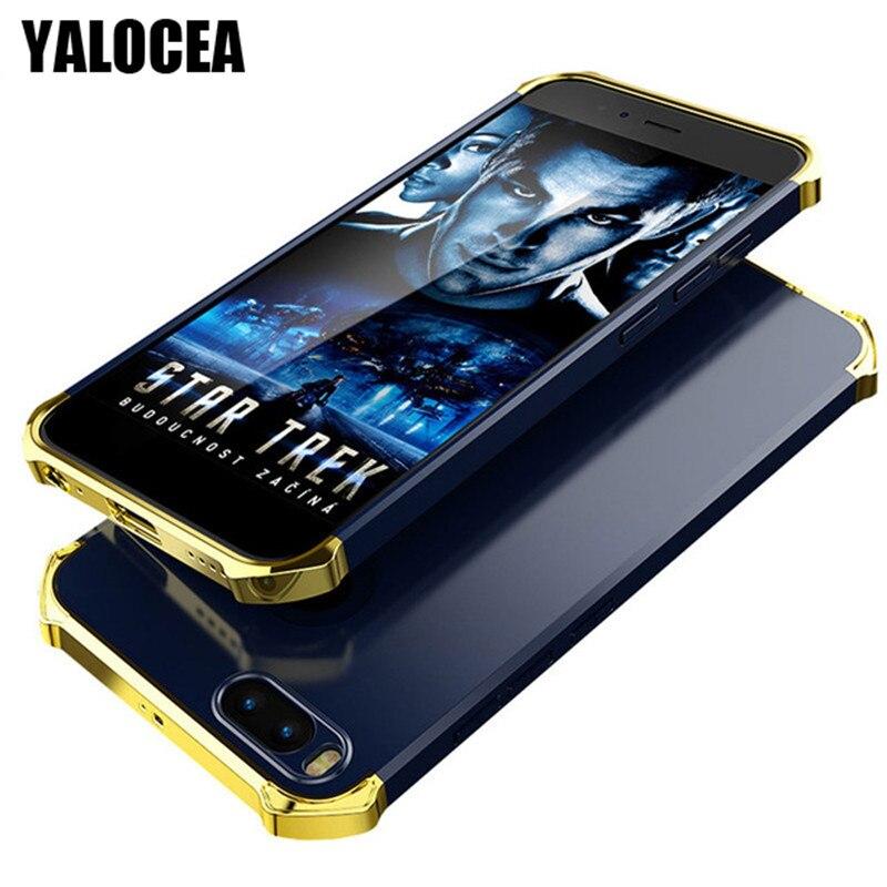 YALOCEA Phone Cases For Xiaomi Mi A1 Case 3 in 1 Metal Plating Hard PC Cover For Xiaomi mi 5x a1 mi5x Anti Knock Back Case Funda