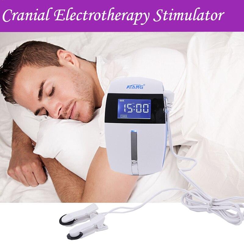 Eletrônico Máquina Sonífero Insônia Sem Dormir Ansiedade Depressão Cranial Eletroterapia Fisioterapia Terapia Dezenas Estimulador