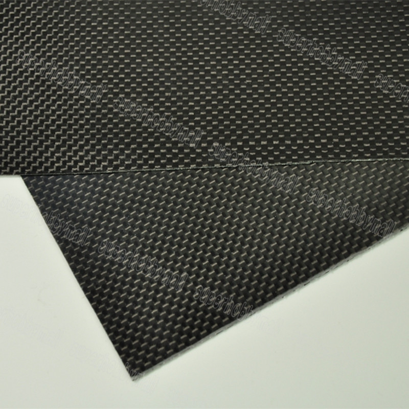 1pcs 0.5mm Thickness 100x250mm 200x500mm 250x250mm 400x250mm 400x500mm 500x500mm Carbon fiber plate Sheet Glossy 3K Plain Weave 1sheet matte surface 3k 100% carbon fiber plate sheet 2mm thickness