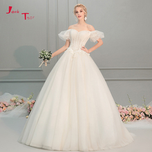 Jark Tozr Custom Made Off Shoulder A-line Wedding Dresses