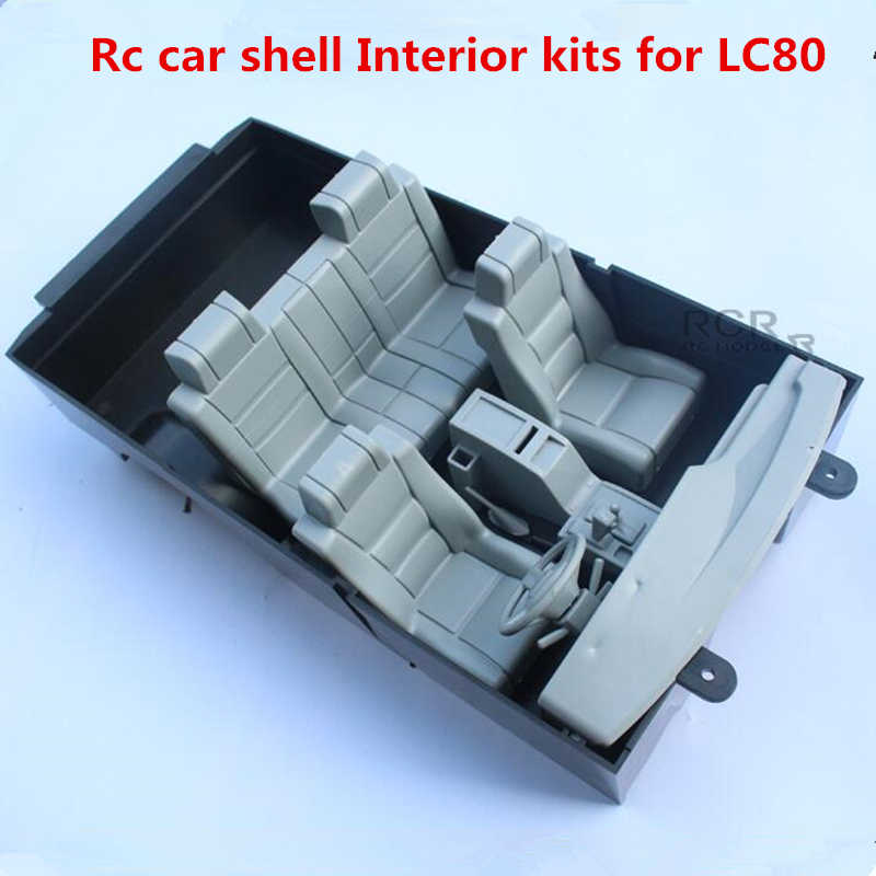 Rc auto modificatie onderdelen auto shell cab interieur kits vergadering voor 1/10 rc crawler Toyota Land Cruiser LC80 Pajero model truck