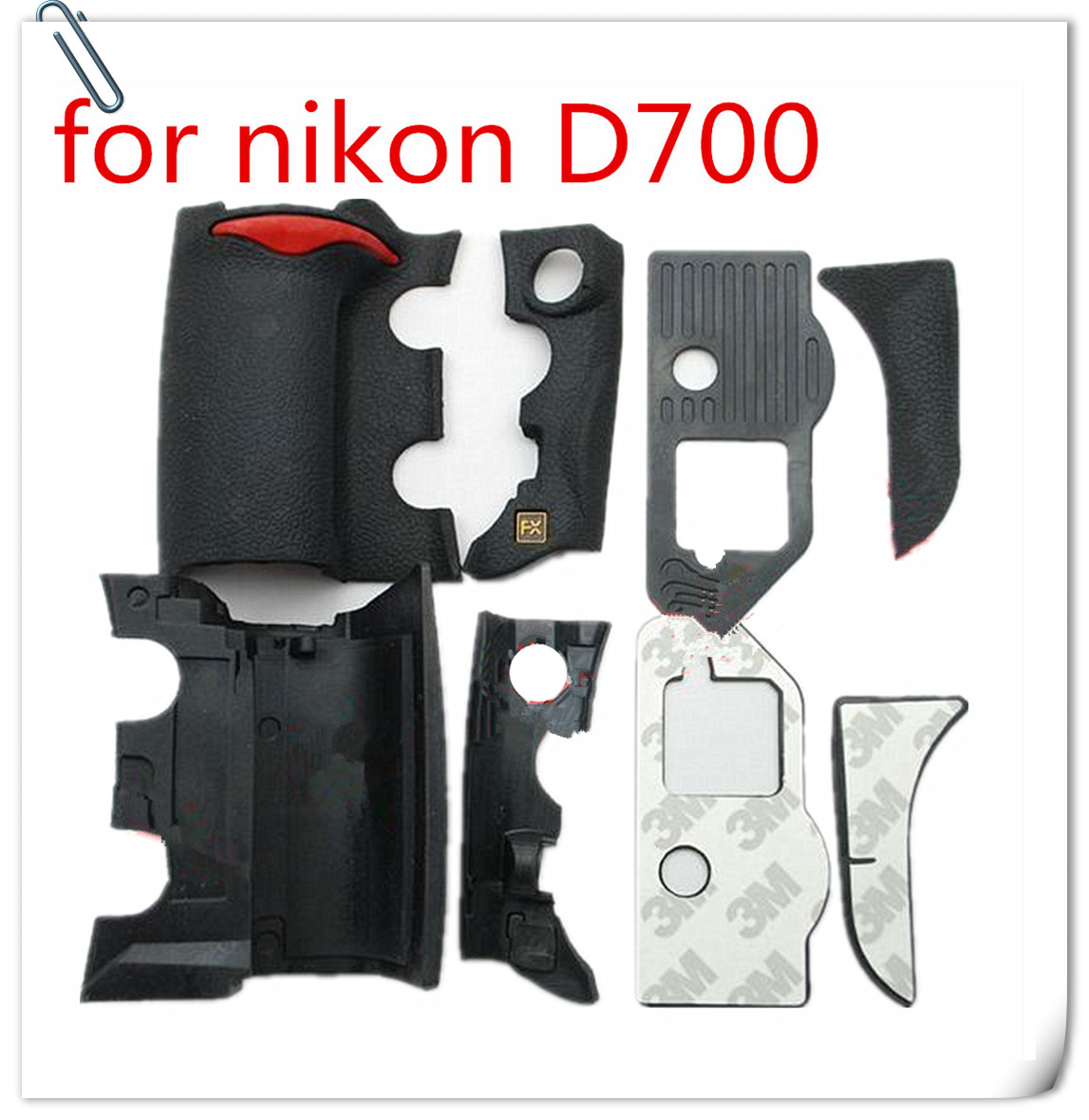 NEW A Set of 4 Pieces Grip <font><b>Rubber</b></font> Cover Unit For <font><b>Nikon</b></font> <font><b>D700</b></font> Digital Camera Body <font><b>Rubber</b></font> Shell + Tape image