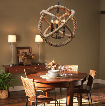 Modern home countryside loft style rope pendant light vintage bar decoration light coffee shop light ac90-265v free shipping american countryside style antique wrought iron pendant light iron light geometry coffee shop decoration light free shipping page 6