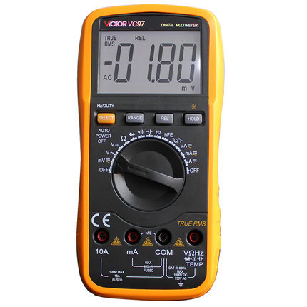 Fast arrival Victor VC97 3 3/4 Auto Range Digital Multimeter digital multimeter victor vc 6056d3 4 auto range temperature test streamline design