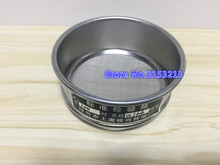 R6cm 100 mesh / Aperture 0.15mm Standard Laboratory Test Sieve Sampling Inspection sieve Pharmacopeia sieve Height 4.5cm r30cm gravel sieve aperture 2 36mm 90mm standard laboratory test sieve square hole sieve stone sieve with lid and bottom