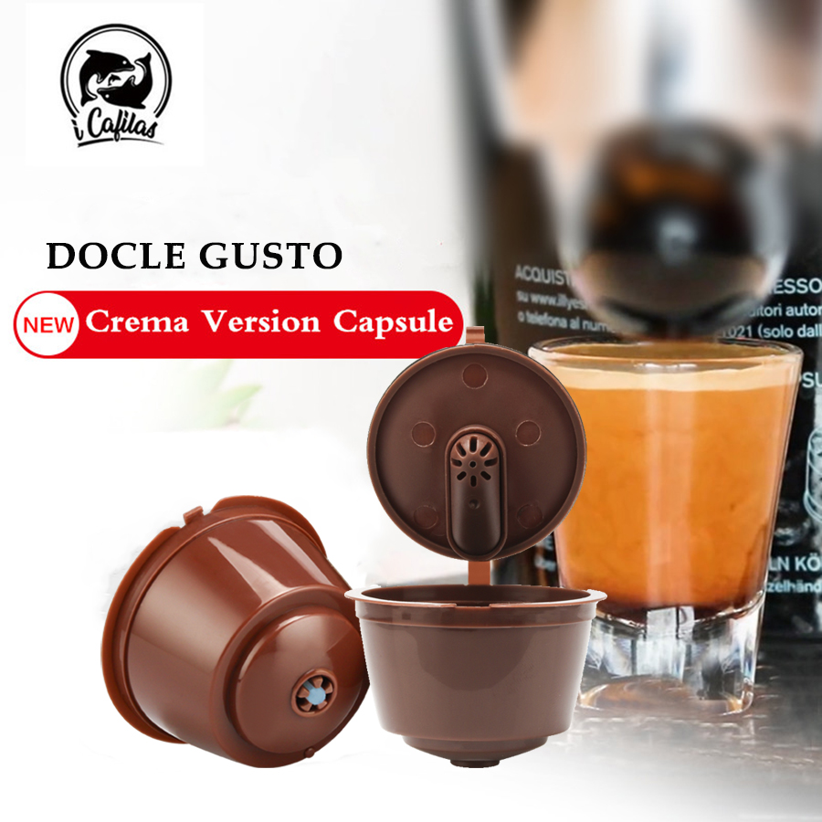 3pcs/packet 3rd Refillable For Dolce Gusto Coffee Capsule for Dolci Nescafe Machine Reusable Dulce Gusto Coffee Filter(China)