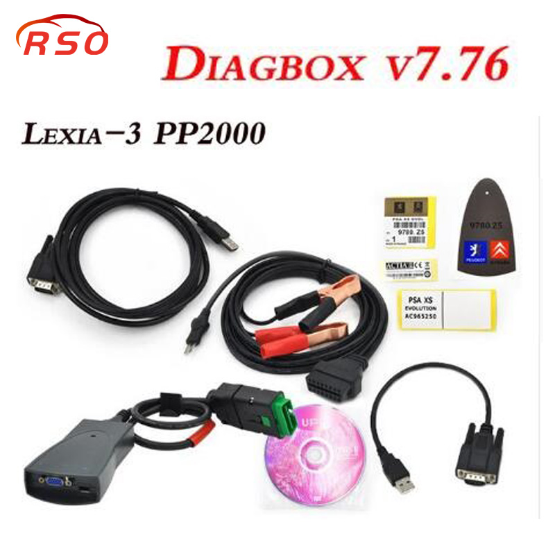 with high quality 91815C relay Lexia-3 PP2000 Diagnostic Tool with Diagbox V7.83 Scanner For Citroen for Peugeot in multilingual