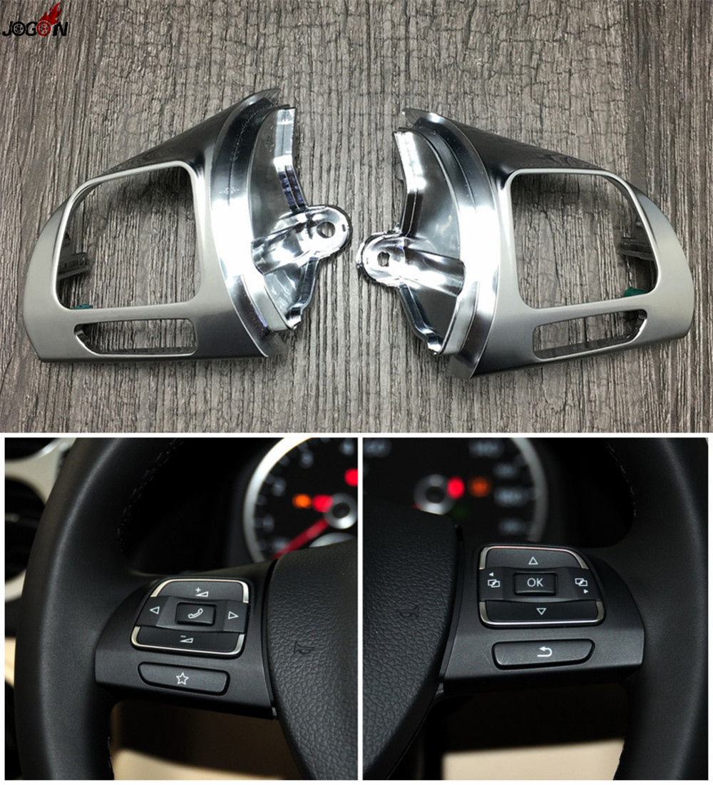 2010 Volkswagen Golf Interior: Steering Wheel Button Replacement Cover For VW Passat B7