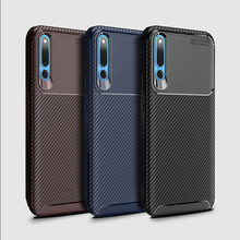 For Honor Magic 2 Case Classic Carbon Fiber Phone Bag Huawei Business Matte Silicone Cover