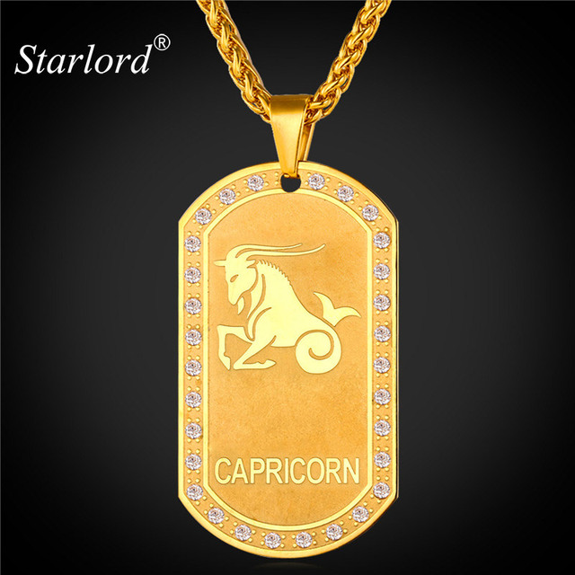 Starlord zodiac charms capricorn pendant necklace women jewelry starlord zodiac charms capricorn pendant necklace women jewelry gift gold color necklace dog tags for men aloadofball Choice Image