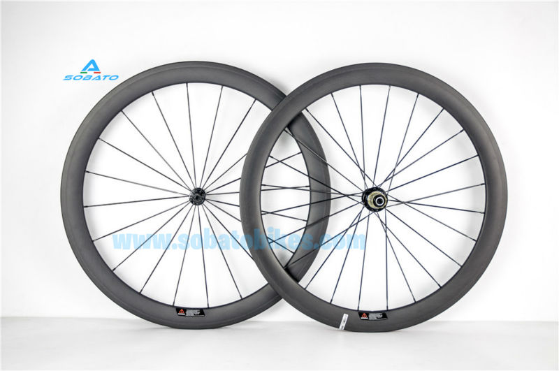 2017 Toray t700 carde carbone Carbon road Wheelset 50mm,Basalt Brake 3K/UD Carbon Road Wheels Clincher Bicycle Wheelset