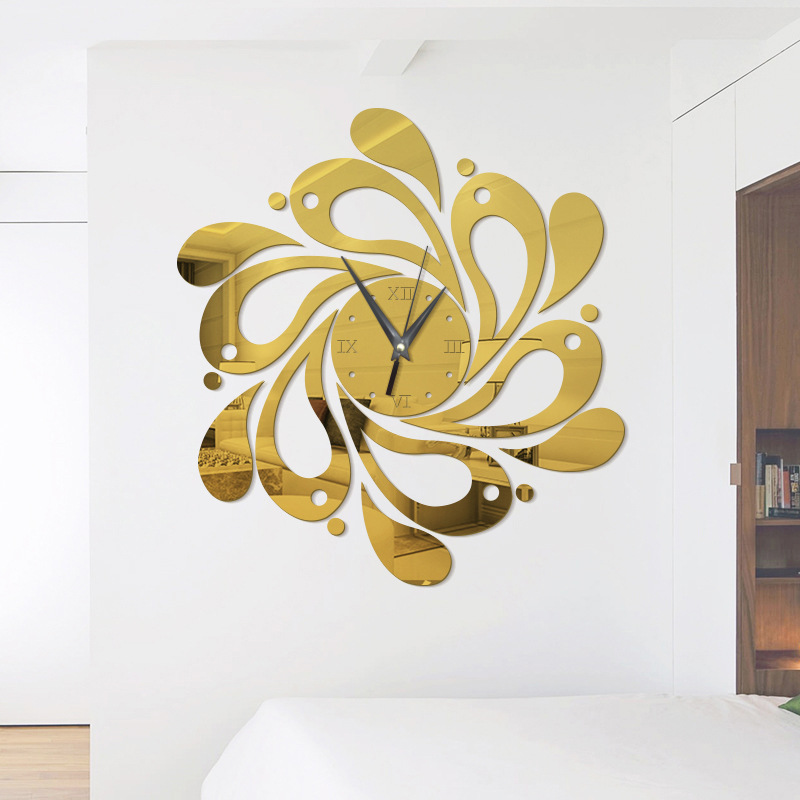 3D Diy Stickers Wall Clocks Home Decoration Mirror Acrylic Sticker Furniture Modern Style Mirror Art Design Fashion Wall Clocks