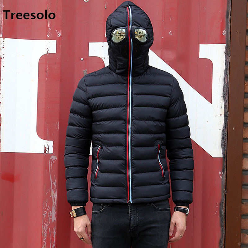 Image 2 - New Winter Jacket Men Thermal Jacket Warm Men Parkas Fancy Hooded  with Glasses youth Man Jackets Outwear strange Clothing 1049Parkas