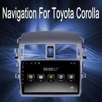 OTOJETA Brand car android gps HD touch screen navigation Fit for Toyota Corolla 2008 2012 car stereo autoradio aux bluetooth