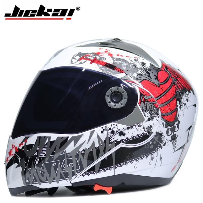 Motorcycle Dual Visor helmets Modular Flip Up helmet racing double lens capacete casco moto DOT ECE