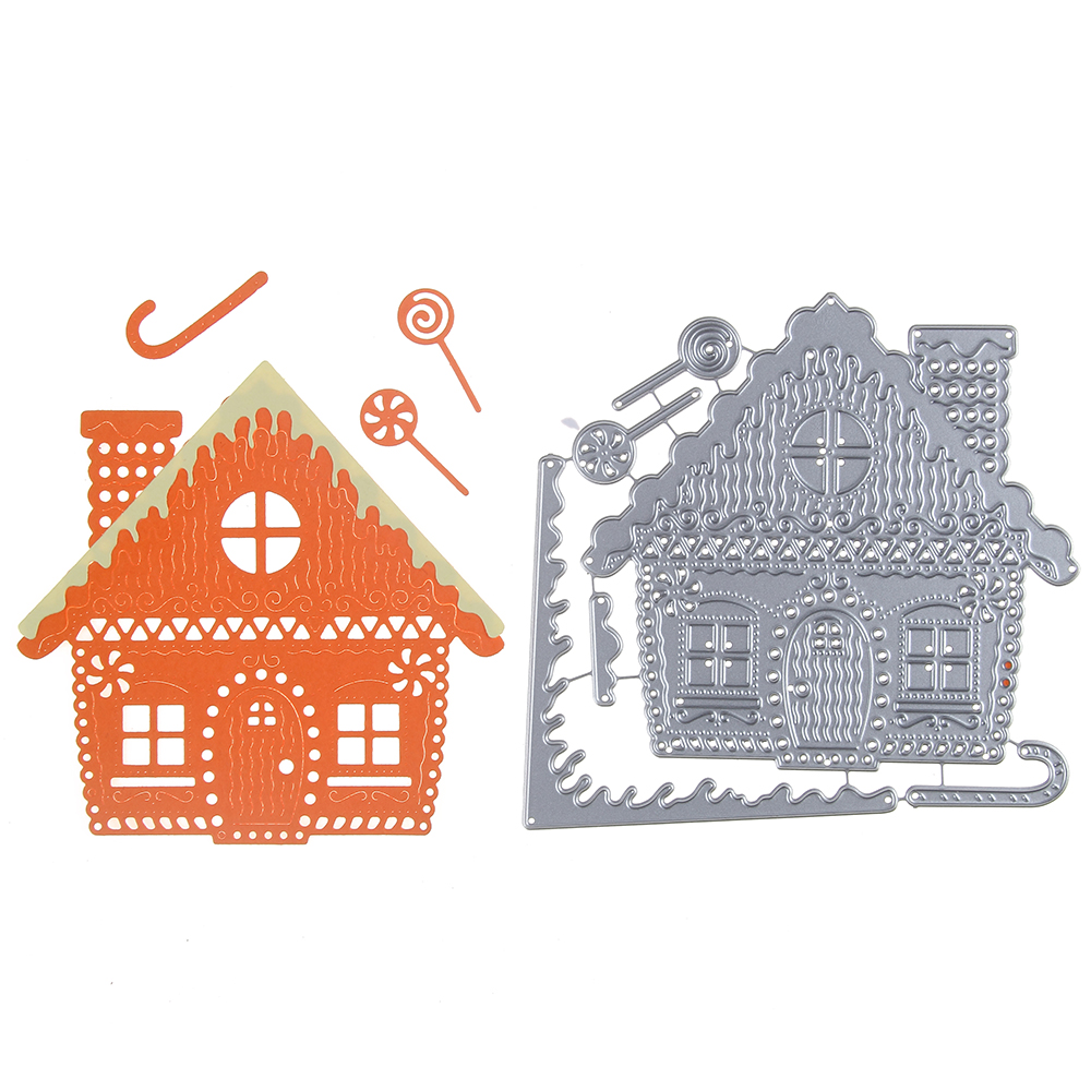 Swovo Metal Cutting Dies Stencil 113*114mm House Building Frame For Decor DIY Scrapbooking Greeting Card Embossing Die Template