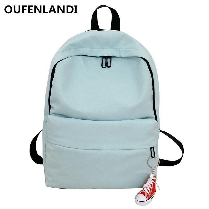 1fd98f43b91 OUFENLANDI Genuine Brands Backpacks For Girl Backpack Travel Bag Women  Large Capacity Bags For Mochila Preppy Sweet Back Bag
