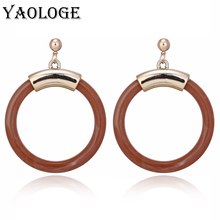 YAOLOGE New Classic Round Acrylic Earrings Fashion Creative Circle Personality Jewelry Bohemian Style For Women Accessories