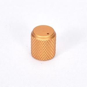 Image 5 - 5pcs Diameter: 12mm Height: 15mm Aluminum Knurled Volume Potentiometer Knob Black/Silver/Red/Gold