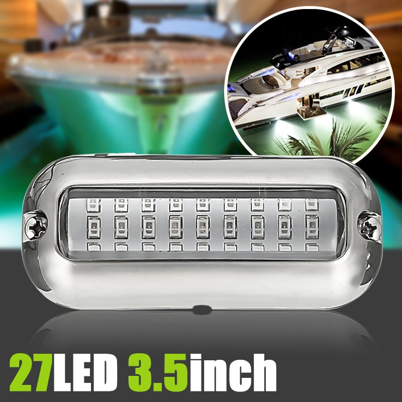 50w 27led Red/blue/green Boat Light Underwater Pontoon Marine Transom Light Ip68 Waterproof Stainless Steel Anchor Stern Lamp Products Are Sold Without Limitations Atv,rv,boat & Other Vehicle