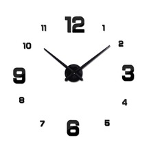 Hot Sale New Wall Clock Clocks Watch Stickers Diy 3d Acrylic Mirror Home Decoration Quartz Balcony/courtyard Needle europe