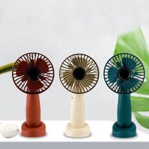 Image 4 - Mini Portable Hanging Usb Charging Fan Rotating Handheld Desktop Cooling Fan Cooler Mobile Phone Holder