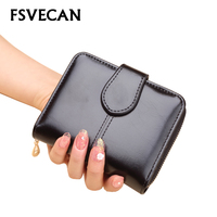 Luxury Brand Leather Small Wallet women mini clutch short purse wallets female coin zip pocket card holder purses waman 2018