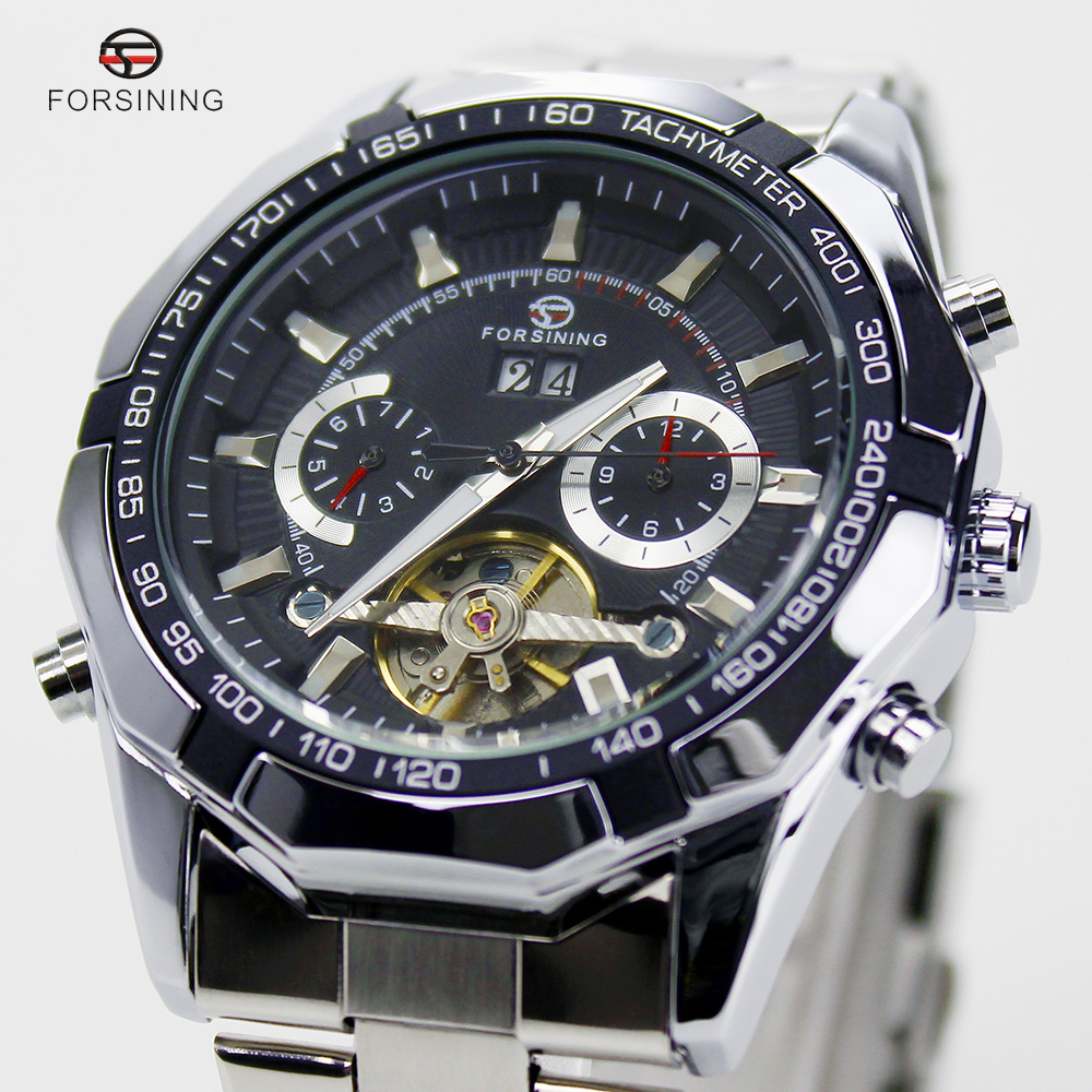 2016 Forsining New Series Tourbillon Design Clock Mens Automatic Skeleton Watches Male Military Multifunction Relogio Erkek